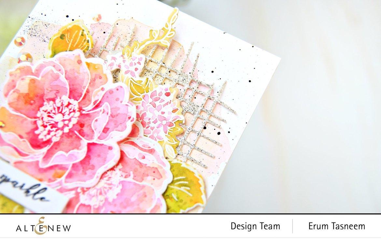Altenew Build-A-Flower: Wild Rose Stamp Set | Erum Tasneem | @pr0digy0