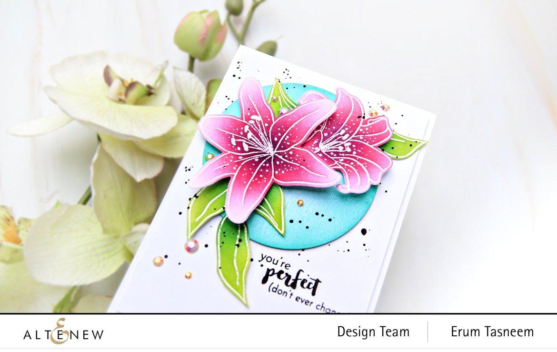 Altenew Inked Lily Stamp Set | Erum Tasneem | @pr0digy0