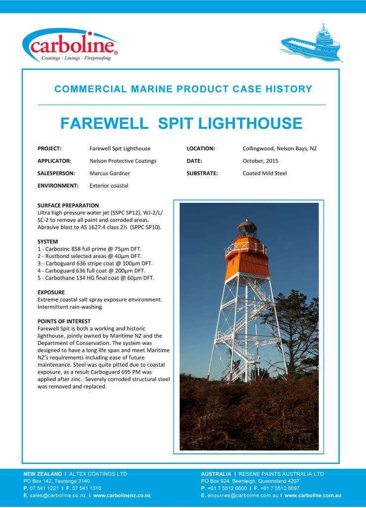 Commercial Marine, Farewell Spit Lighthouse, New Zealand