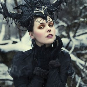 VICTORIAN GOTH: One of Mai's more intricate outfits.