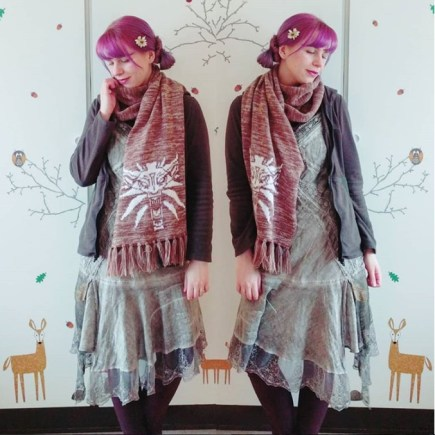 ETHEREAL LOOK: Katrin mixes faerie fashion with Mori Kei.