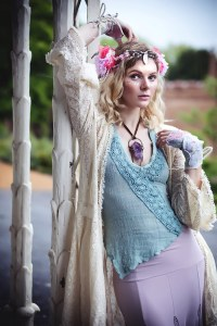 ANGELIC: Lisa Bennett's first UK shoot.