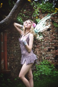 MISCHIEVOUS: Lisa as a fairy.