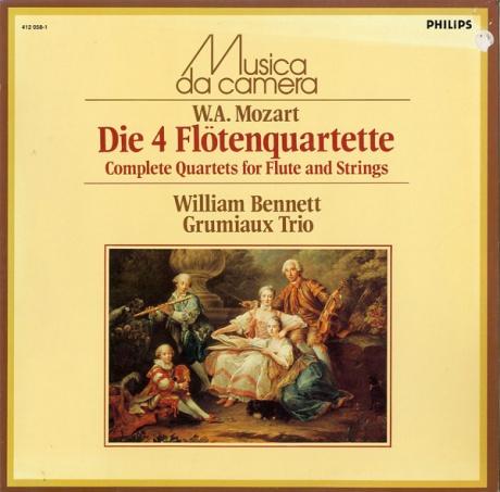 グリュミオー・トリオ、ベネット モーツァルト:フルート四重奏曲全曲