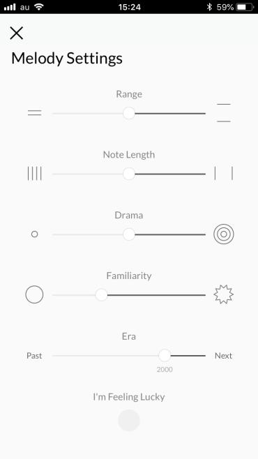melody settings