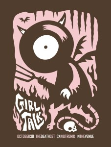 Girl Talk Gig Poster - by Furturtle Show Prints