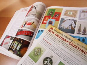 Stationary Trends Magazine Furturtle Holiday Greeting Card Feature