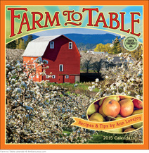 Farm to Table 2015 wall calendar