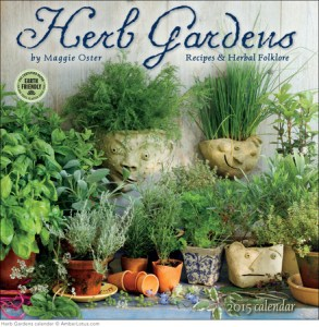 Herb Gardens 2015 wall calendar by Maggie Oster