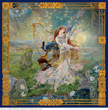 Women of Myth & Magic 2015 wall calendar by Kinuko Y. Craft