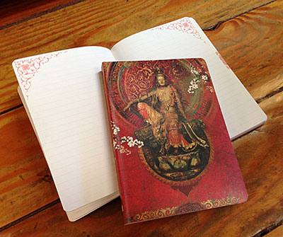 Our Kwan Yin journal featuring artwork by Duirwaigh Studios