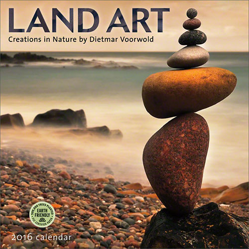 Land Art 2016 wall calendar featuring work by Dietmar Voorwold