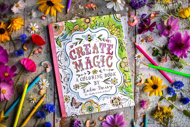 Katie Daisy coloring book for adults