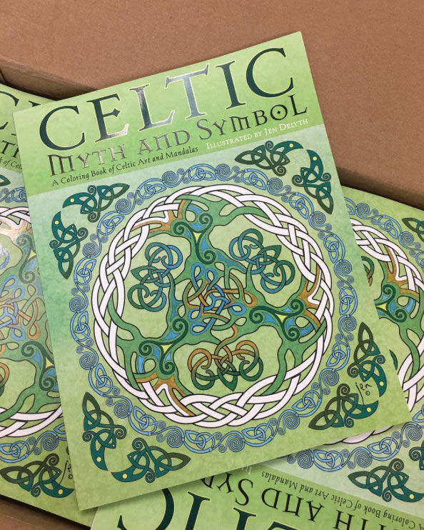 Celtic Myth and Symbol coloring book