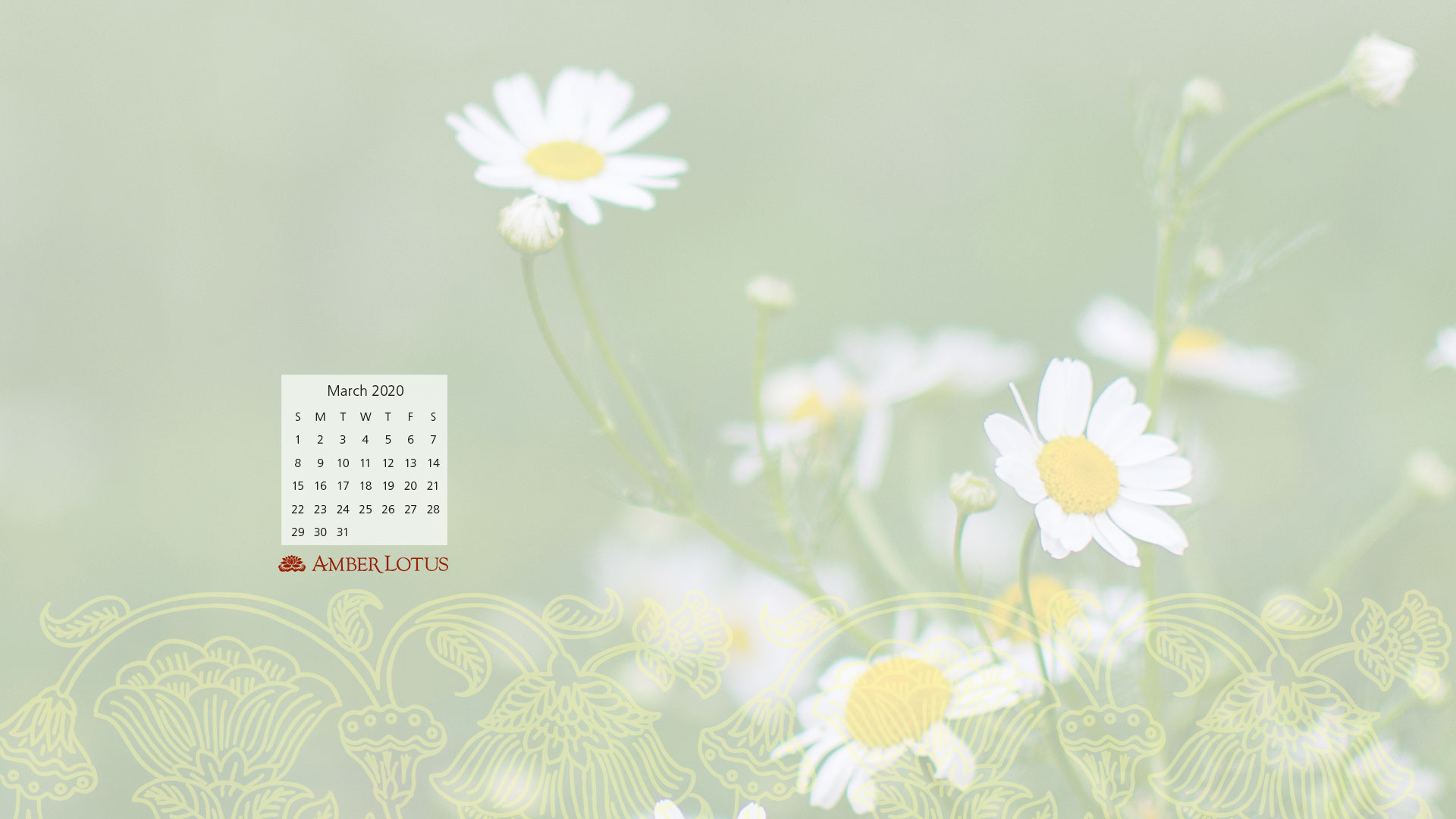 Desktop Wallpaper Calendar March 2020 Free To Download Amber