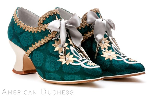 """American Duchess """"Royale"""" custom made 18th century shoes for Whoopi Goldberg"""