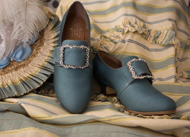 Dyeable Georgiana 18th century shoes by American Duchess