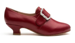 American Duchess Kensington 18th century shoes in Oxblood Red