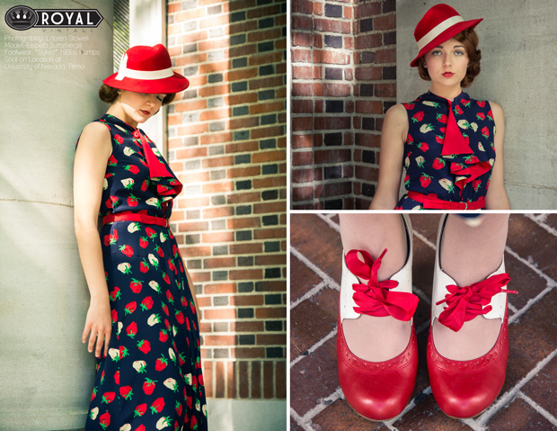 1930s Vintage Dress Shoes and Hat by Royal Vintage