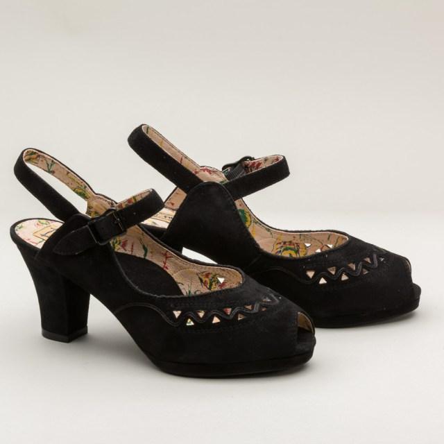 """Miss L Fire """"Betty"""" 1940s Platform Shoes - $165 - RoyalVintageShoes.com"""