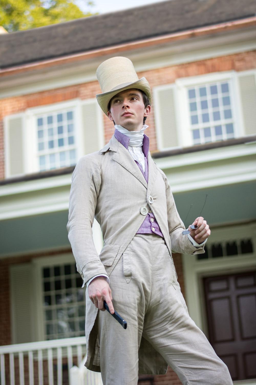 Zack Pinsent at Jane Austen Festival, 2018, photographed by Lauren Stowell, American Duchess