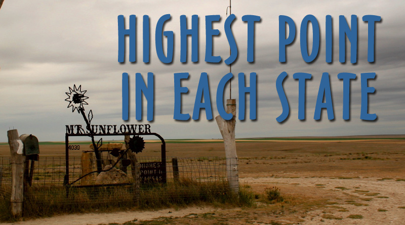 The Highest Natural Point in Each State