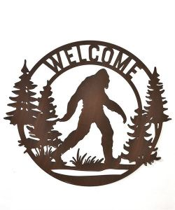 Bigfoot Metal Welcome Sign