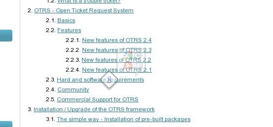 OTRS Documentation