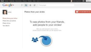 google+ Screenshot