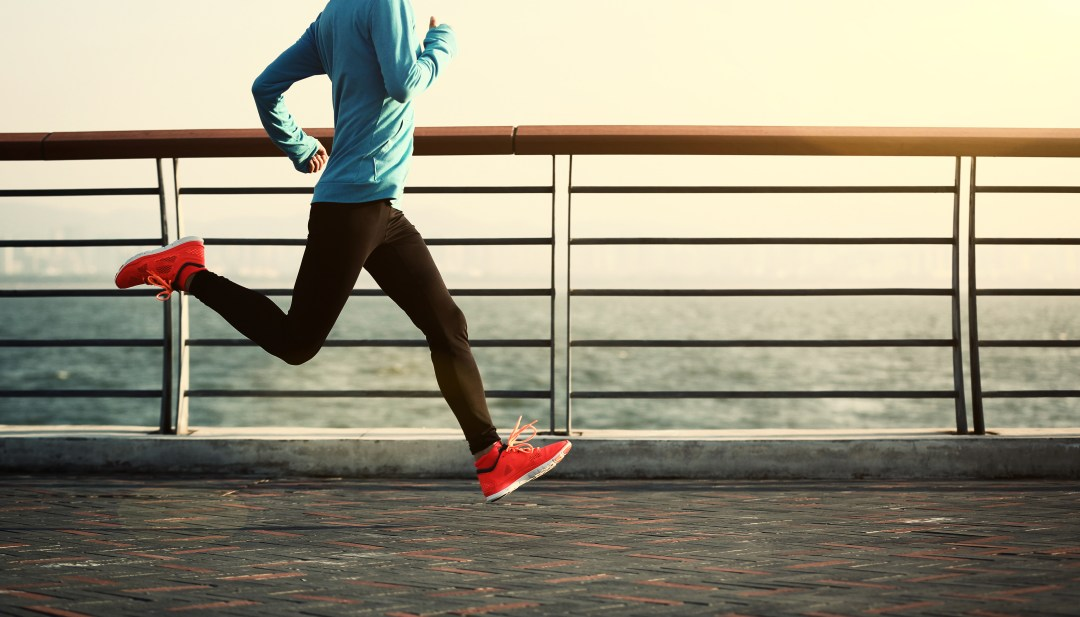Man running in the street