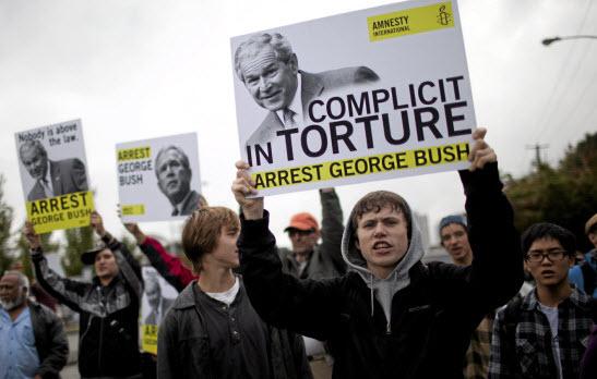 Protest Bush Canada
