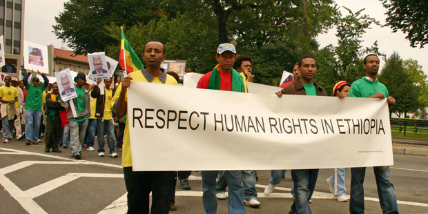 Ethiopia human rights protest