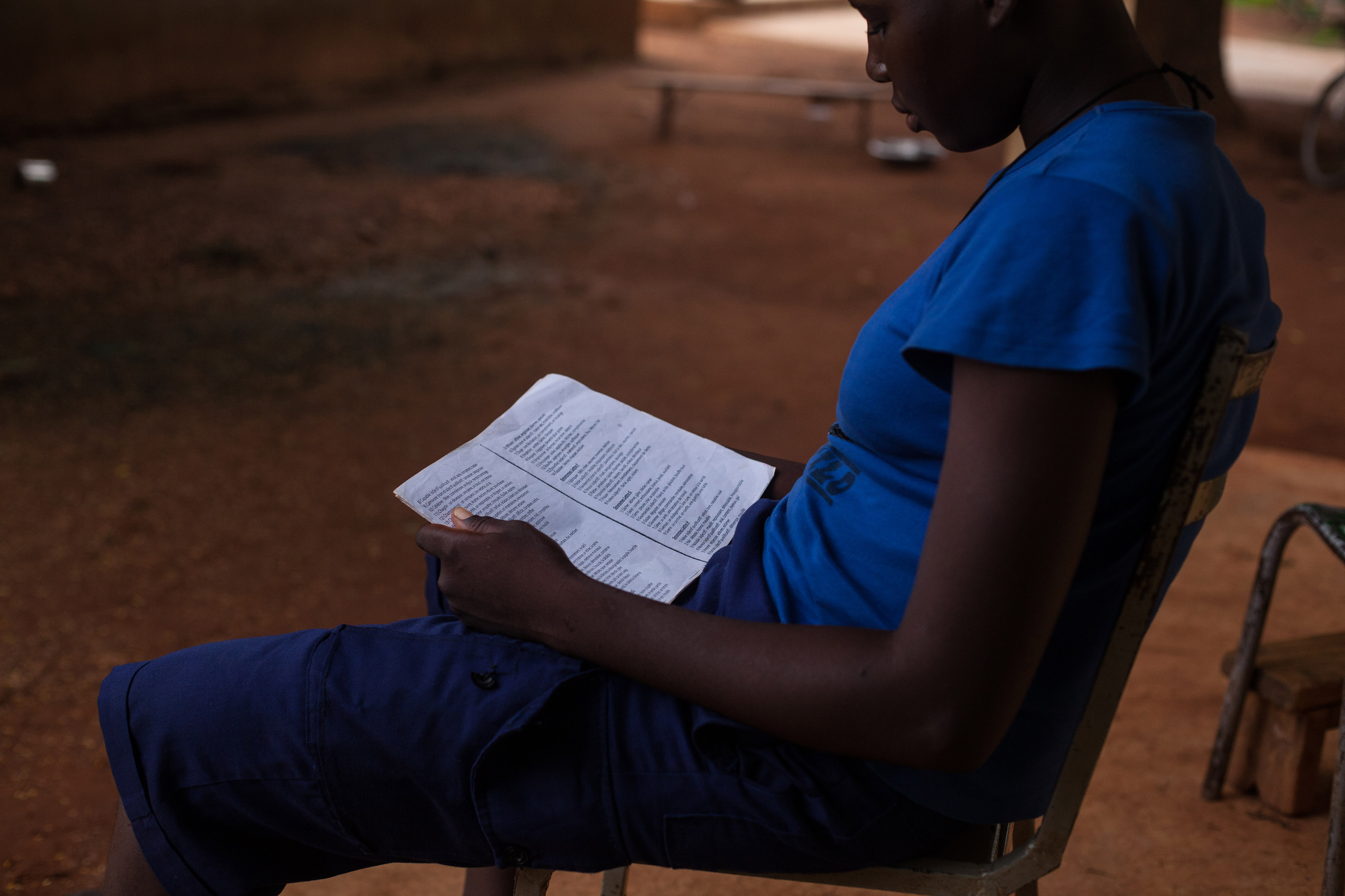For most girls, early marriage means losing out on their education, but at this shelter for survivors of forced marriage in Kaya city, Burkina Faso, girls are encouraged to continue their education.