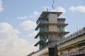 The familiar Indianapolis Motor Speedway Tower