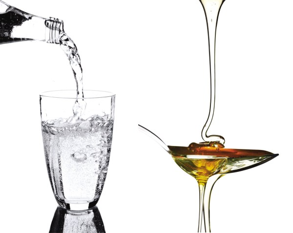 water and honey viscosity