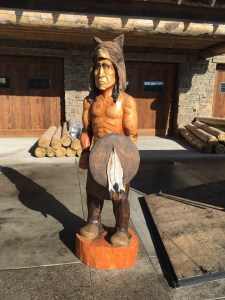 Native American carved out of wood.