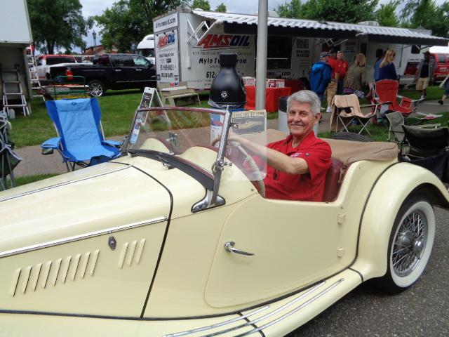 ed newman in a sweet car