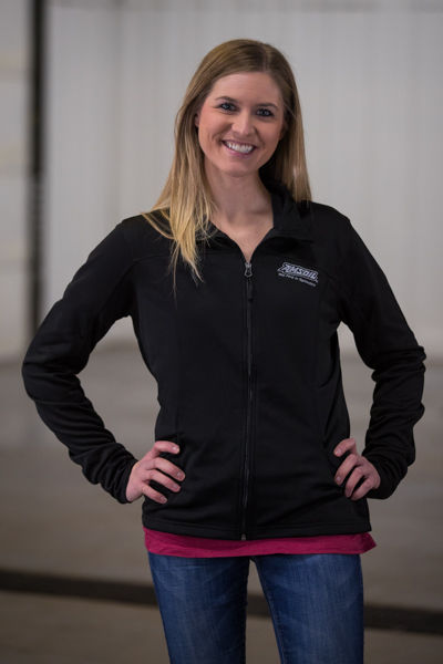 tech track jacket black laura