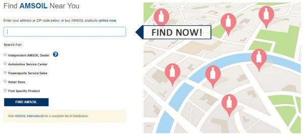 Find AMSOIL, locator