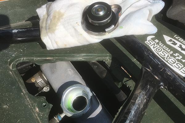 ATV UTV maintenance coolant check.