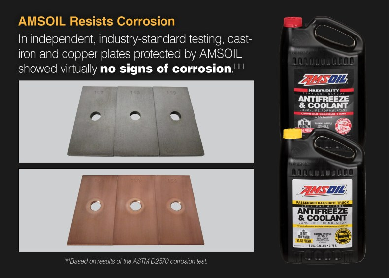 AMSOIL Antifreeze and Coolant prevents corrosion