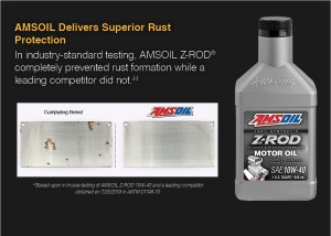 AMSOIL Z-ROD prevents rust.