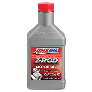 AMSOIL high-zinc Z-ROD motor oil.