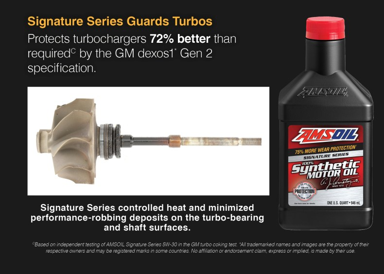 AMSOIL Signature Series protects turbos