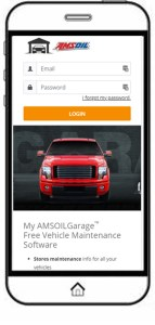 MyAMSOILGarage is the perfect free car maintenance tracker.