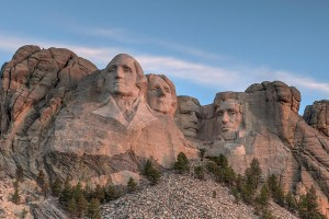 See Mount Rushmore while riding at Sturgis.