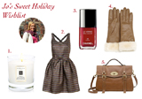 Jo's Sweet Holiday Wish List