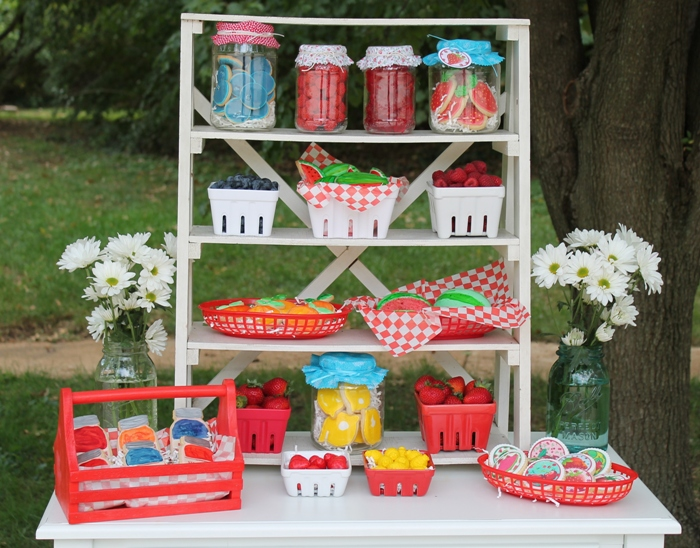 Farm Stand Dessert Table