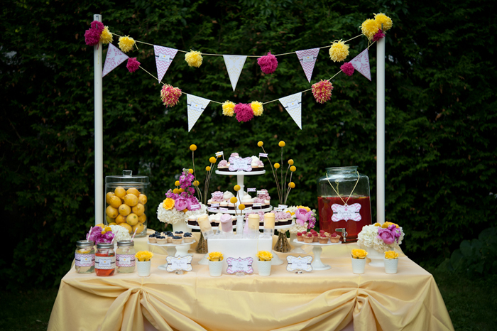 Chevron Pattern Summery Lemonade Stand