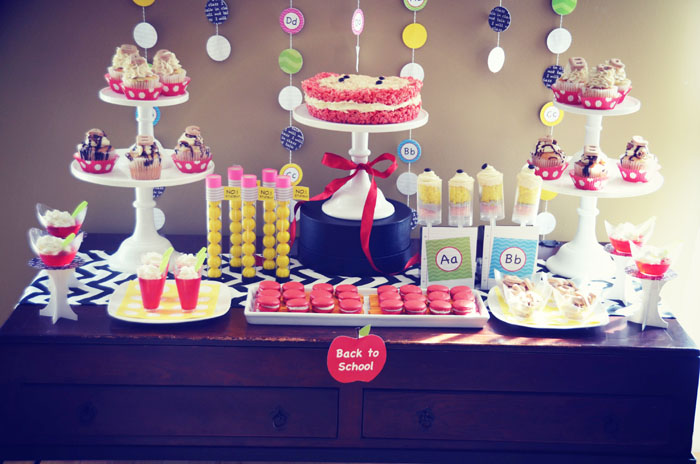 Back to School Dessert Table